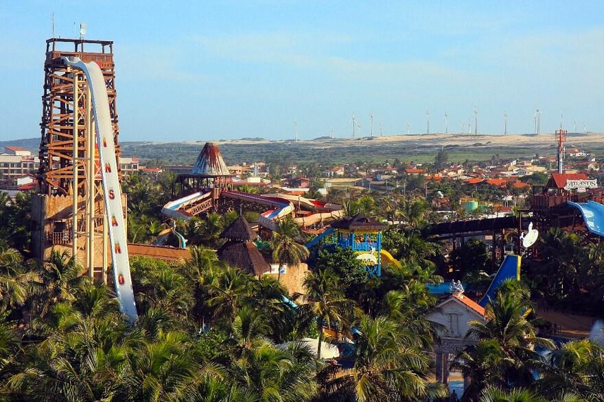 Insano, beach park, toboggan, Fortaleza, Brésil