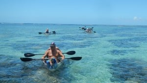 kayak transparent, La Réunion