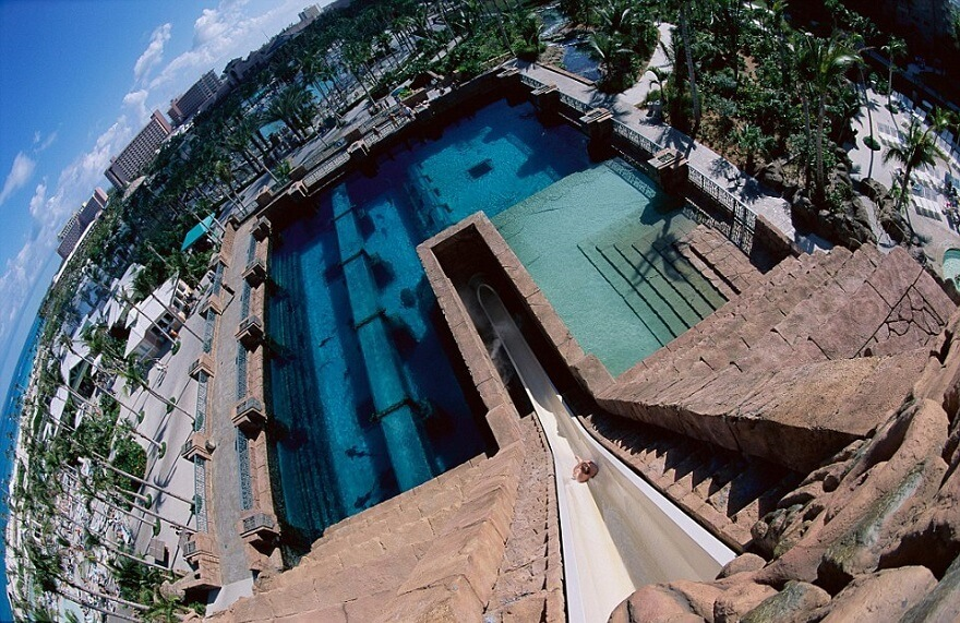 Leap of Faith, Atlantis, toboggan, Bahamas