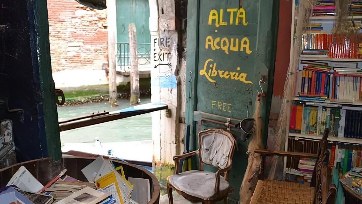 La librairie Acqua Alta à Venise