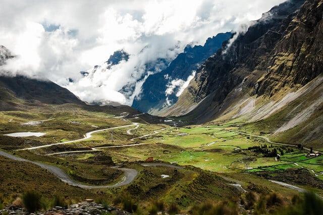 paysage, route de la mort, Bolivie