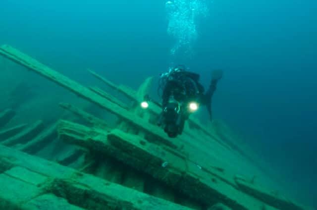 plongée dans la péninsule Bruce, Ontario, Canada