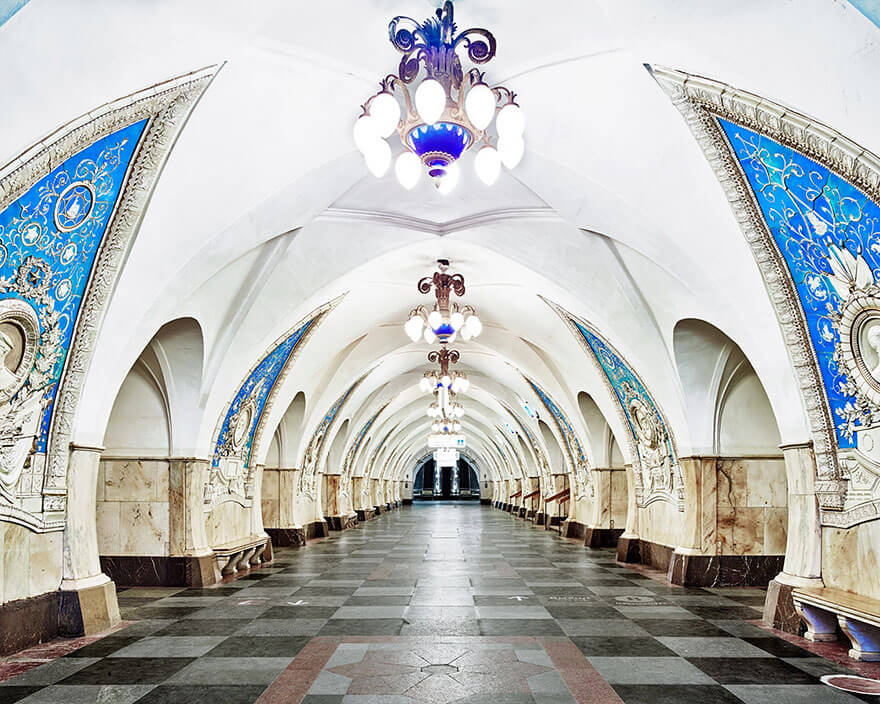 station de métro à Moscou, David Burdeny
