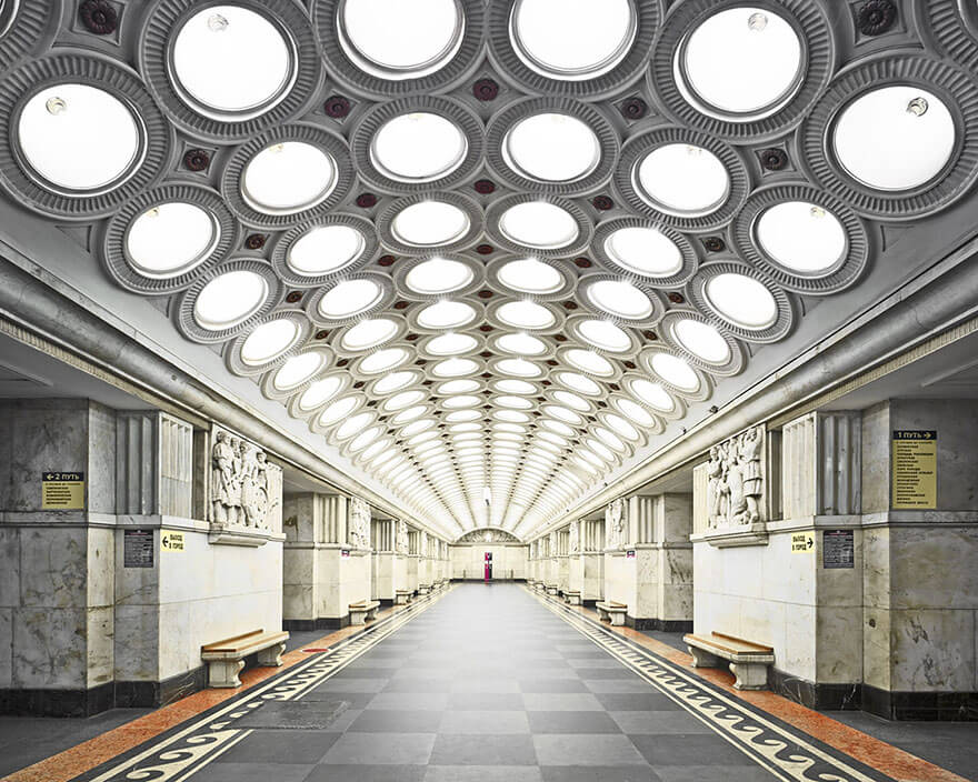 station de métro à Moscou, David Burdeny