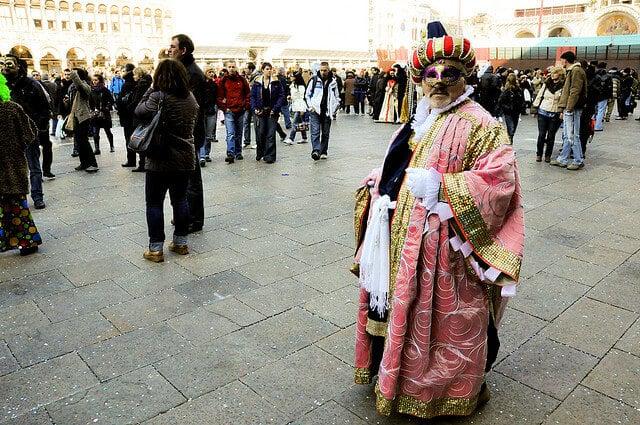 Venise, carnaval, place Saint-Marc
