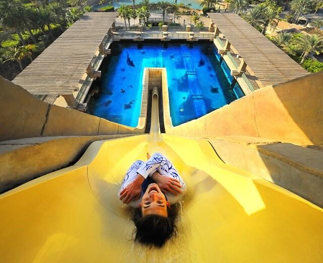 Aquaventure, toboggan, Dubai