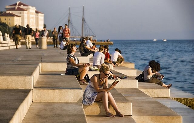 orgues marines, Zadar, Croatie