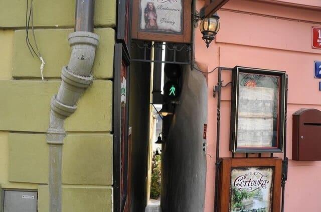rue étroite, Prague