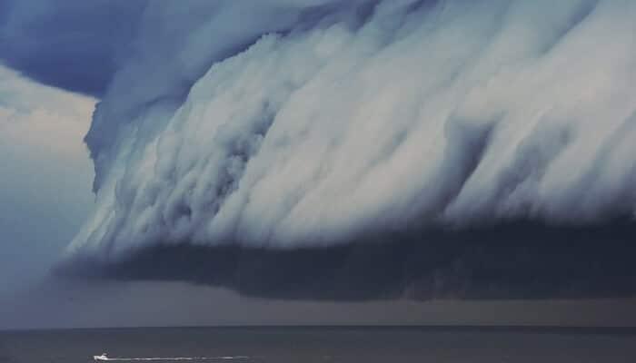 Une tempête terrifiante dans le ciel de Sydney