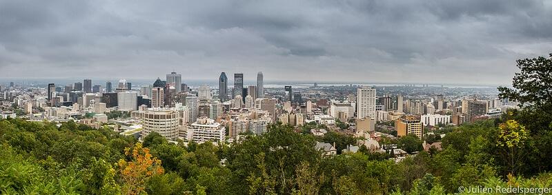 Vue depuis le parc du Mont Royal, Montréal