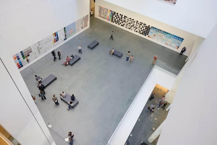 Salle du MoMA (Museum of Modern Art) vue de haut, New York