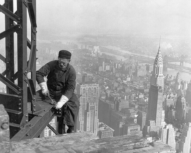construction de l'Empire State Building