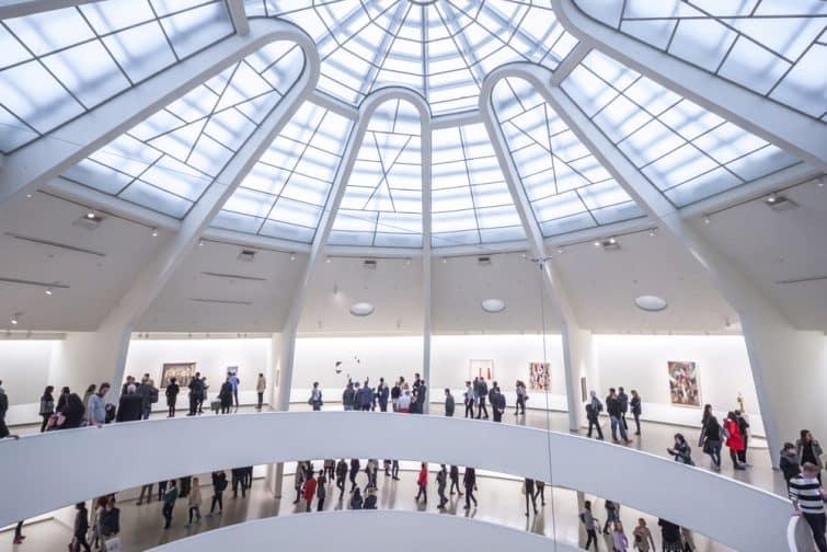 Vue sous la coupule du Guggenheim New York
