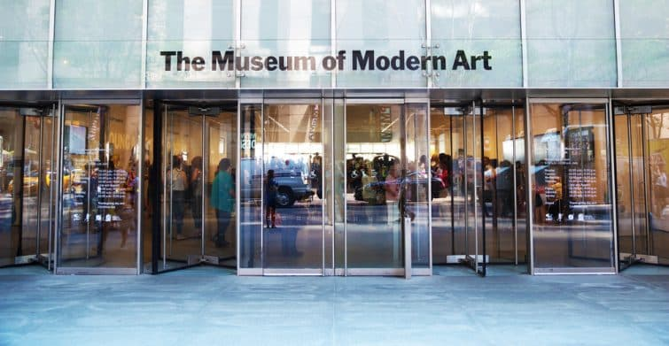 Entrée du MoMA, Musem of Modern Art, New York