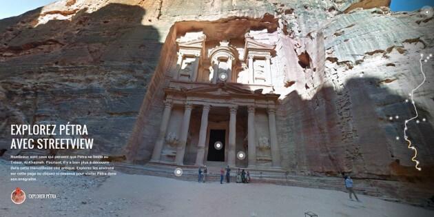 Visite virtuelle des ruines de Pétra avec Street View