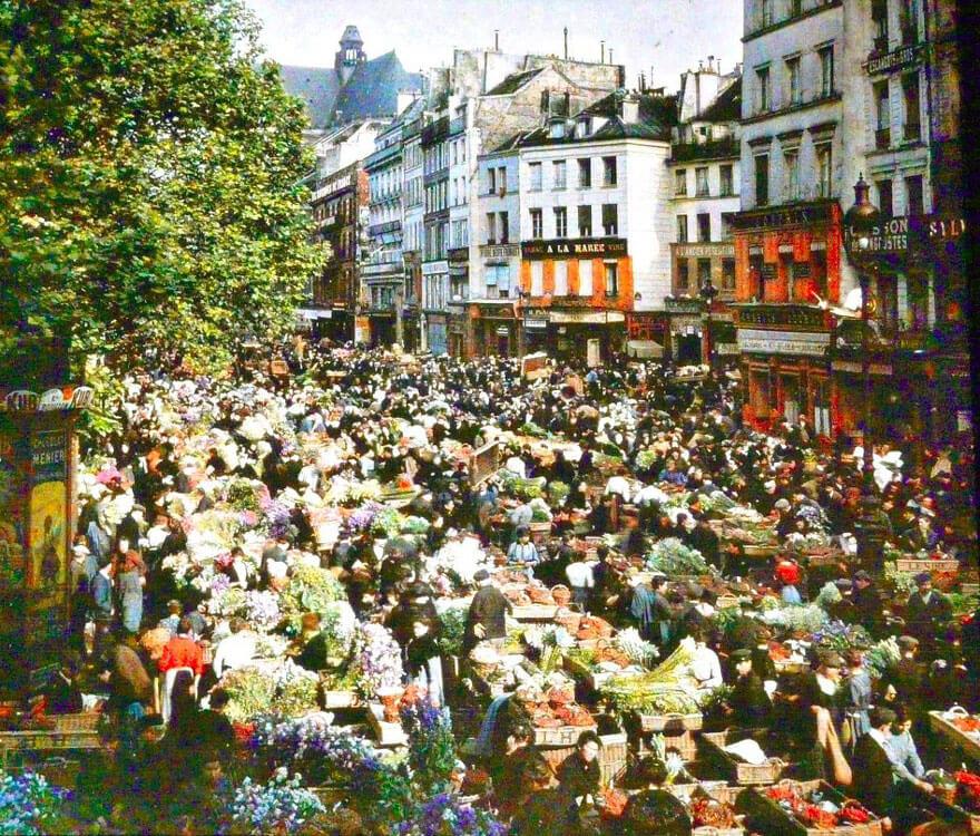 photos vintage en couleurs de Paris, Albert Kahn