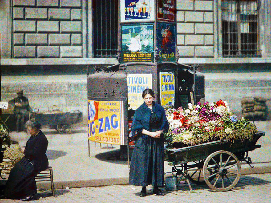 photos vintage en couleurs de Paris, Albert Kahn