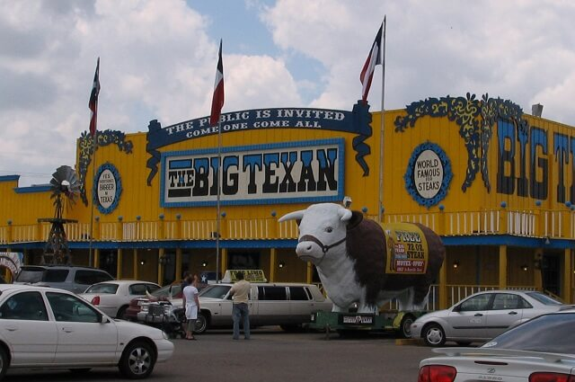 route 66, Amarillo, Texas, Big Texan Steak