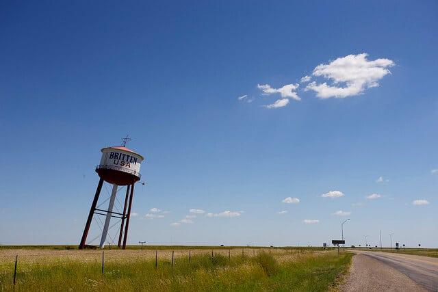 route 66, château d'eau penché, Gritten USA, Groom, Texas