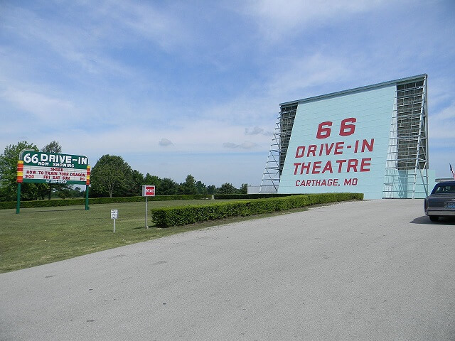 route 66, cinema, Drive-In, Joplin