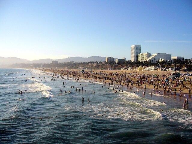 route 66, Santa Monica Beach, Los Angeles