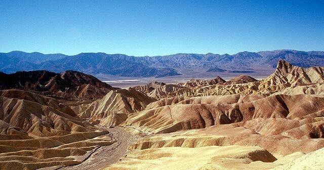 Vallée de la mort, Zabriskie Point, Las Vegas