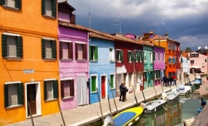 Burano, excursion en bateau, Venise
