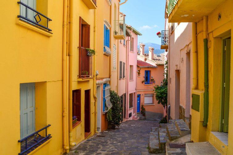 Quartier du Mouré, vieille ville, Collioure
