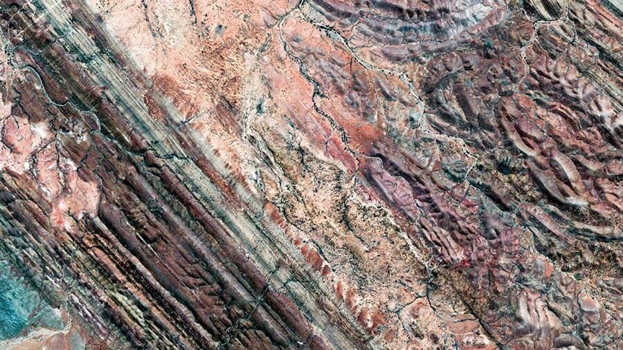 photos de satellites de Google Earth, paysages étranges