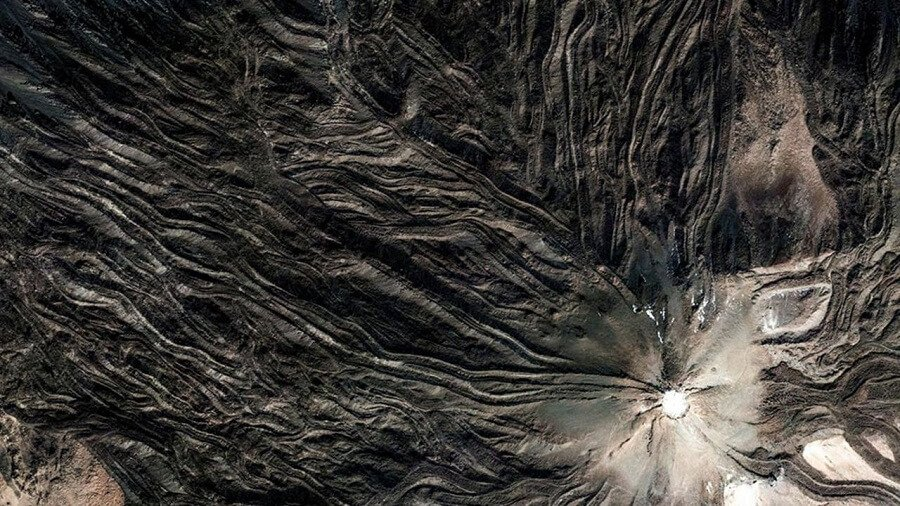photos de satellites de Google Earth, paysages étranges