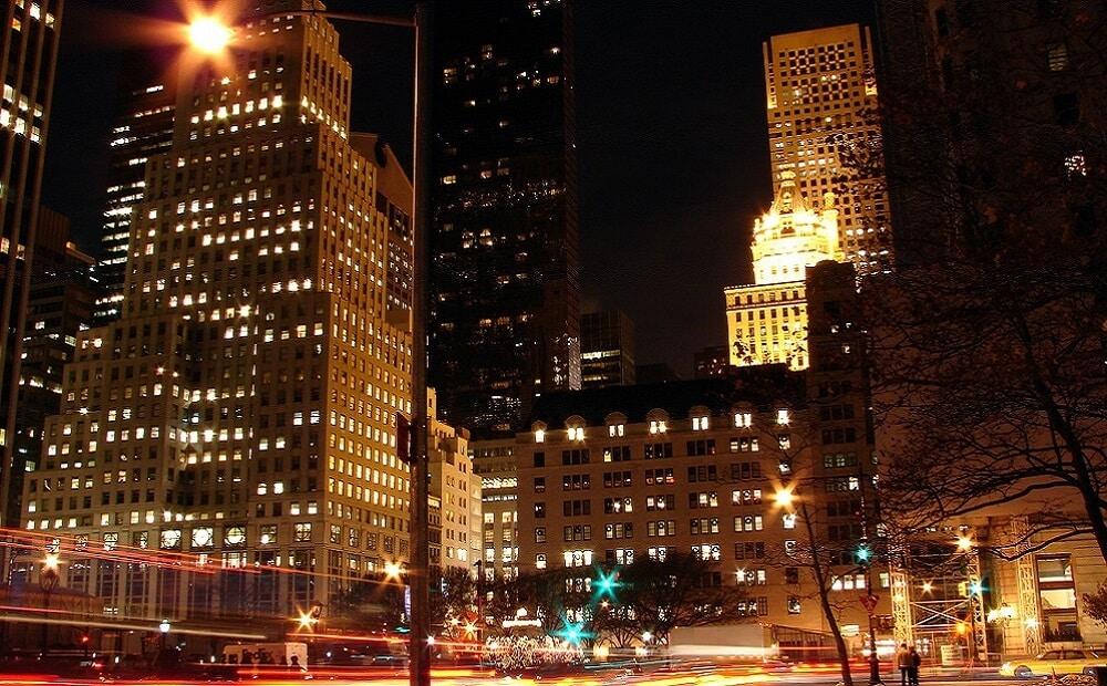 5ème Avenue, New-York, Nuit