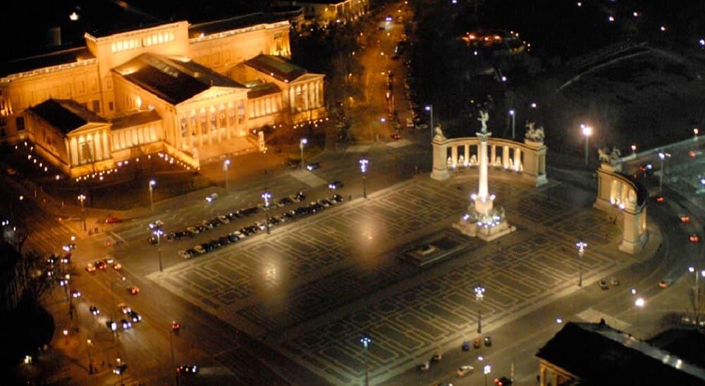 Andrassy Ut, Budapest, Nuit