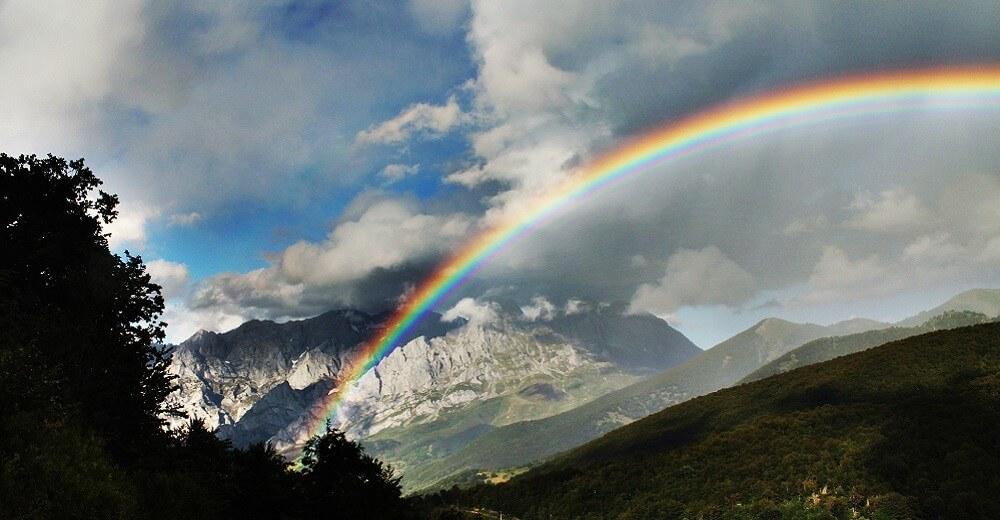 Arc-en-ciel, Montagne, Nuage