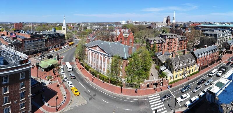 Boston, université de Harvard, Harvard Square