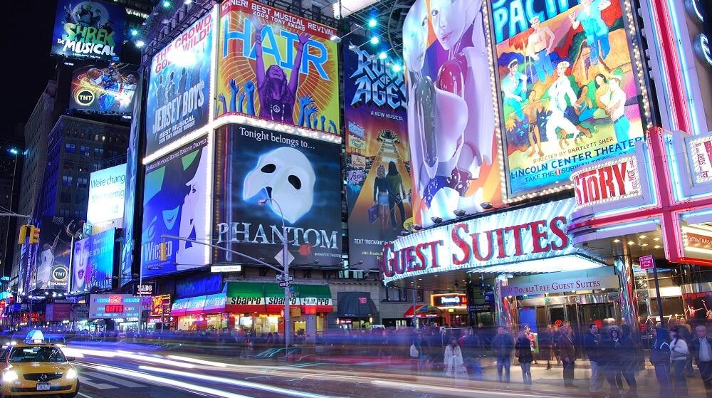 Broadway, New-York, Nuit