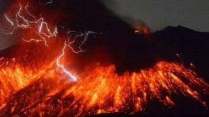 Eruption volcan Sakurajima, Japon