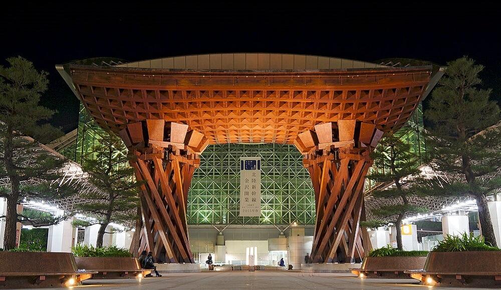 Gare de Kanazawa au Japon