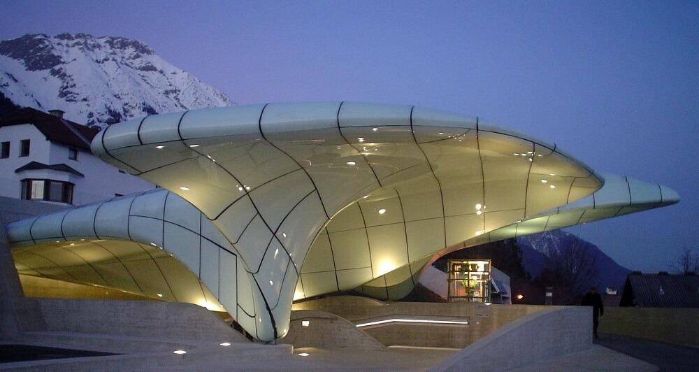 Gare de Hungerburgbahn, Nuit