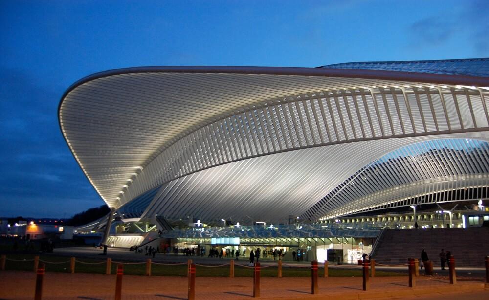 Gare de Liege-Guillemins, Nuit