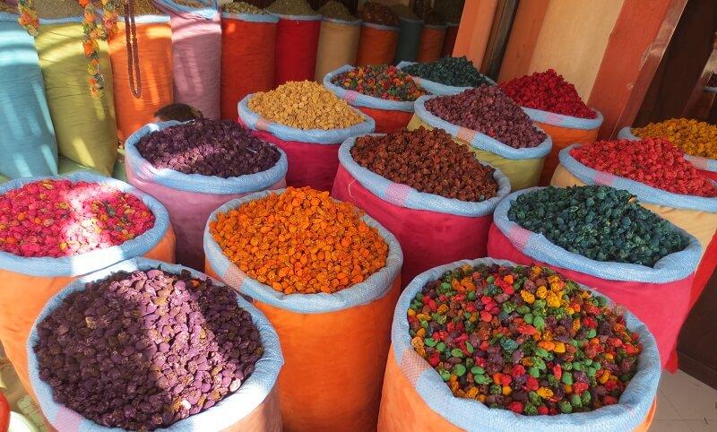 Marché coloré de Marrakech