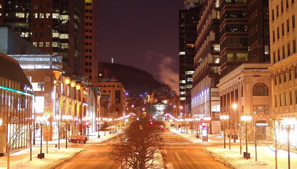 McGill College, Montréal, Nuit