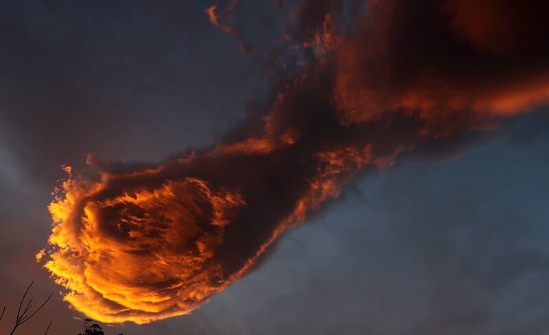 À Madère, un nuage «boule de feu» aperçu dans le ciel