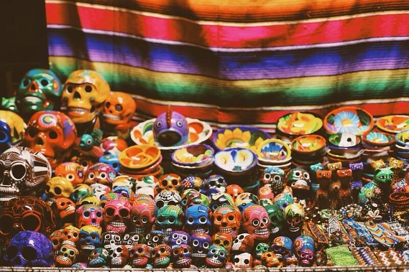 Oaxaca, têtes de mort