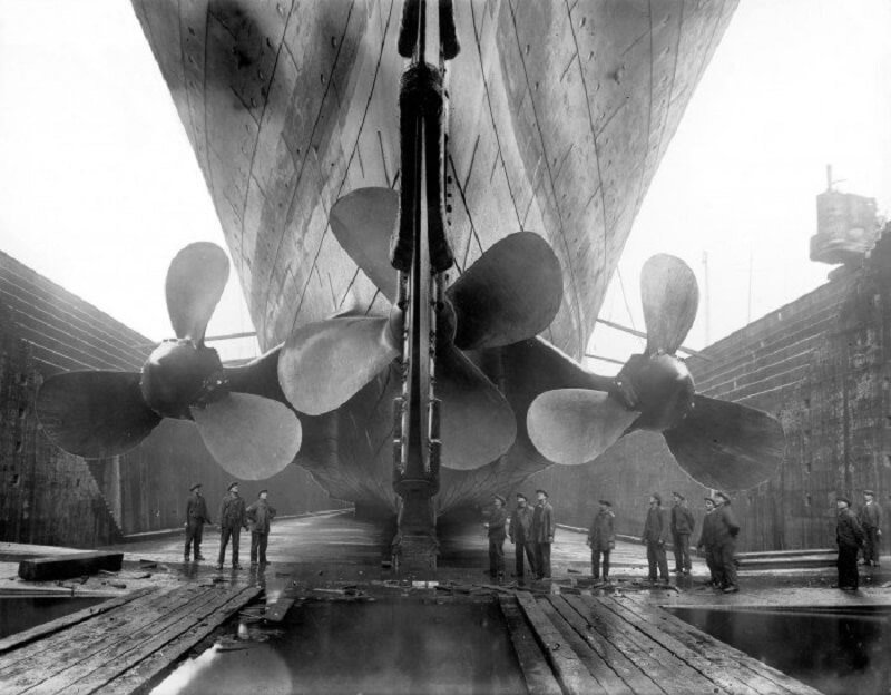 titanic, ancre
