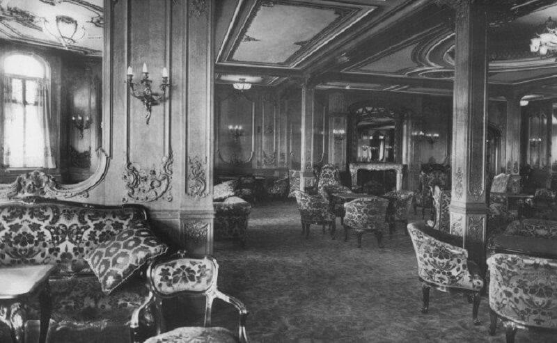 titanic, salon