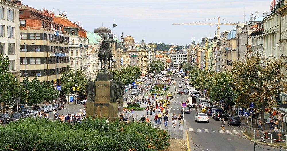 Place Venceslas, République Tchèque
