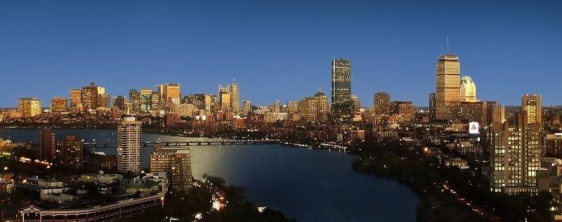 vue panoramique du centre de Boston