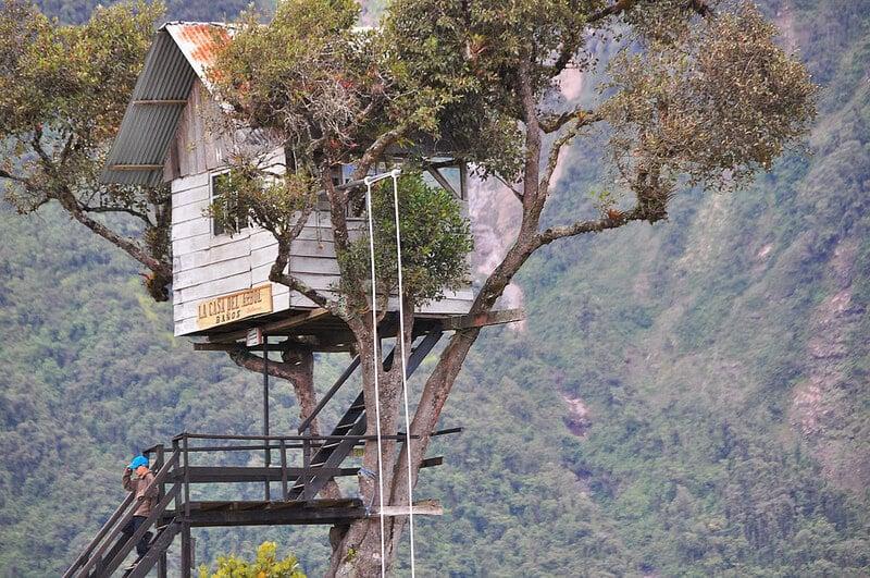Casa del Arbol, balançoire en Equateur
