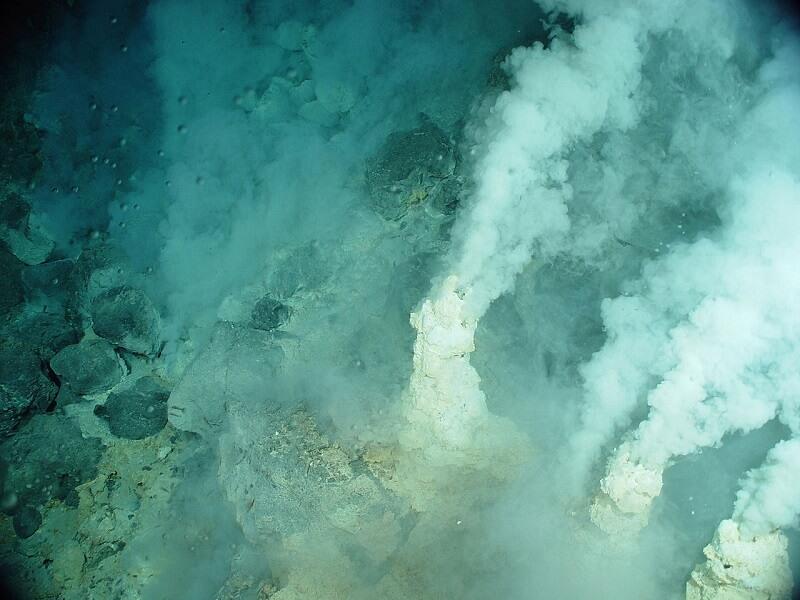 Cheminée hydrothermale en Equateur