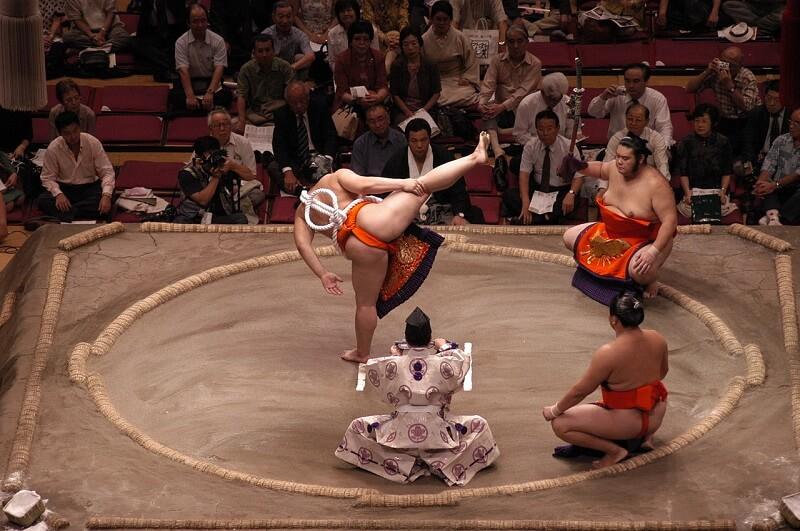 Combats de sumotoris à Tokyo